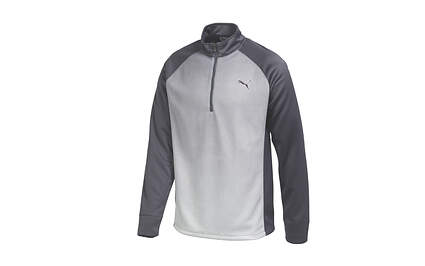 New Mens Puma Go Time Fade Half Zip Golf Pullover Medium Periscope Gray 569609 MSRP $75