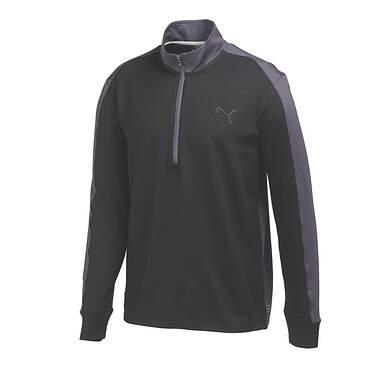 New Mens Puma Color Block PWR Warm Golf Pullover Medium Black Gray 569100 MSRP $75