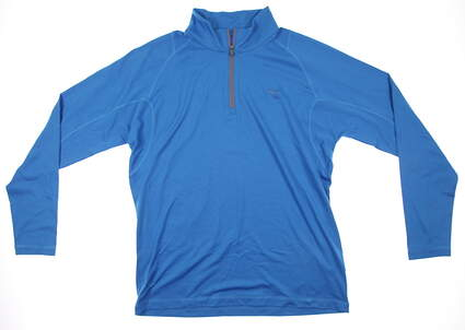 New Mens Puma Baselayer Performance Golf Pullover Medium Cloisonne 569113 MSRP $65