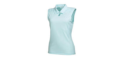 New Womens Puma Dry Cell Keyhole Wicking Golf Sleeveless Polo Small Clearwater 569065 MSRP $60