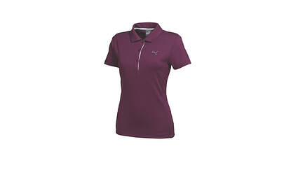 New Womens Puma Solid Tech Dry Cell Cresting Golf Polo Small Italian Plum 568336 MSRP $50
