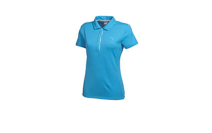 New Womens Puma Cresting Solid Tech Dry Cell Golf Polo Small Blithe 568336 MSRP $50