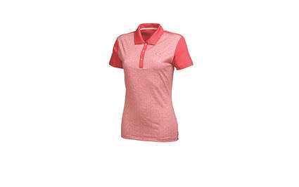 New Womens Puma Tile Print Wicking Dry Cell Golf Polo Small Cayenne 569610 MSRP $65