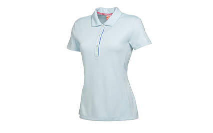 New Womens Puma Cresting Solid Tech Breathable Golf Polo Small Clearwater 568337 MSRP $55