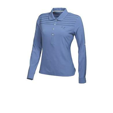 New Womens Puma Woven Tech Stitch Wicking Golf 3/4 Sleeve Polo Small Lavender 569069 MSRP $70