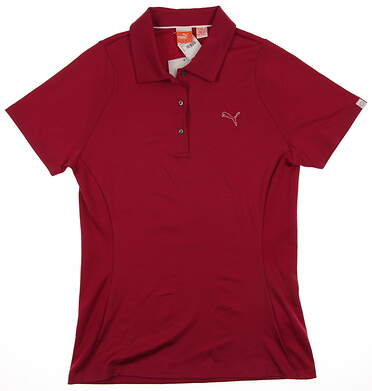 New Womens Puma Duo Swing Cool Cell Breathable Wicking Golf Polo Small Cerise MSRP $60