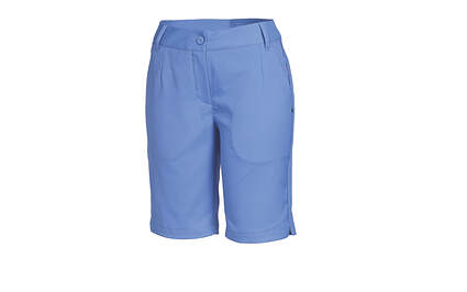 New Womens Puma Bermuda Solid Tech Dry Cell Golf Shorts Size 4 Blue 568359 MSRP $70