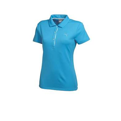 New Womens Puma Solid Tech Wicking Dry Cell Golf Polo Small Blithe Blue 568336 MSRP $50