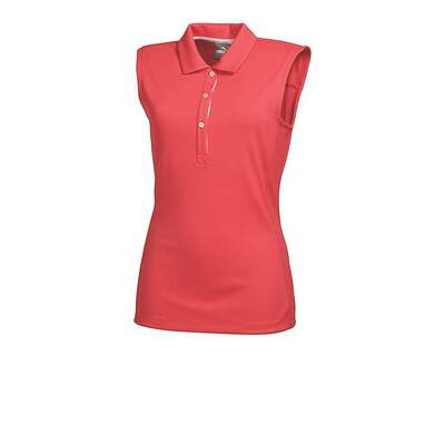 New Womens Puma Solid Tech Dry Cell Golf Sleeveless Polo Small Cayenne 569075 MSRP $45