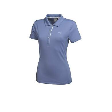 New Womens Puma Wicking Dry Cell Solid Tech Golf Polo Small Lavender 568336 MSRP $50
