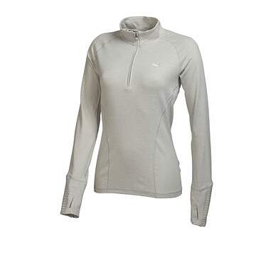 New Womens Puma Dry Cell Tech Baselayer 1/4 Zip Pullover Small Heather Gray 569077 MSRP $65