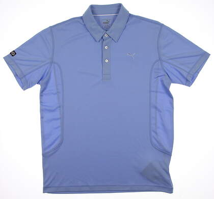 New Mens Puma Breathable Cool Cell Tech Golf Polo Medium Della Robbia Blue 568242 MSRP $50