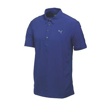 New Mens Puma Cool Cell Woven Breathable Golf Polo Medium Sodalite 569112 MSRP $60