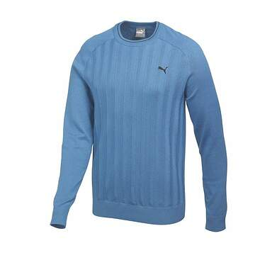 New Mens Puma ThermoCool Luxury Elbow Patch Crew Neck Golf Medium Federal Blue 569305 MSRP $130