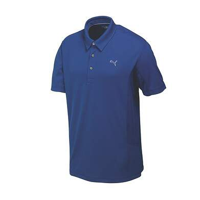 New Mens Puma Cool Cell Cresting Solid Tech Wicking Golf Polo Medium Sodalite 568242 MSRP $55