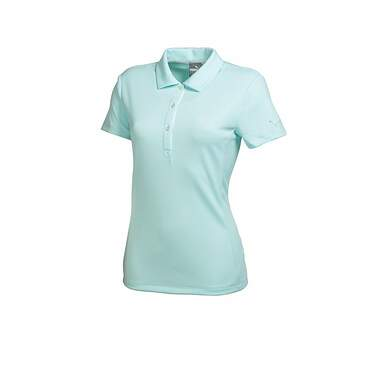 New Womens Puma Golf Tech Polo Cresting Small S Clearwater Blue 568337 MSRP 50.00