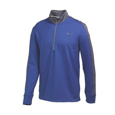New Mens Puma PWR Warm Colorblock Golf 1/4 Zip Pullover Medium Sodalite Blue 569100 MSRP $75