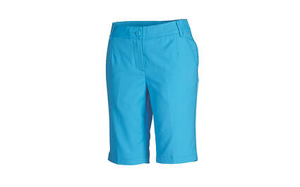 New Womens Puma Piped Dry Cell Wicking Lux Golf Shorts Size 4 Blithe Blue 568359 MSRP $65