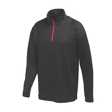 New Mens Puma Baselayer Performance Stretch Golf 1/4 Zip Pullover Medium Black 569113 MSRP $65