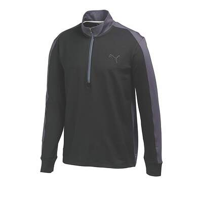 New Mens Puma Golf PWR Warm 1/4 Zip Pullover Medium Black/Gray 569100 MSRP $75