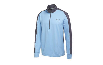 New Mens Puma Golf PWR Warm Golf 1/4 Zip Pullover Medium Della Robbia Blue 569100 MSRP $75