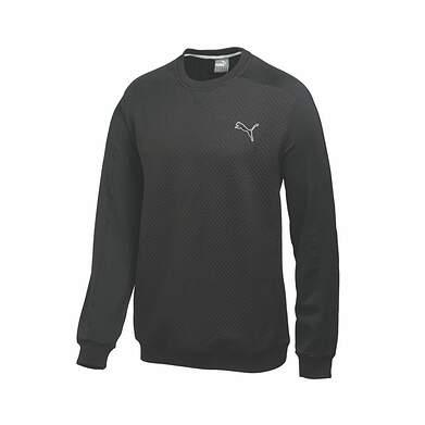 New Mens Puma Quilted PWR Warm Crew Neck Golf Sweatshirt Medium Black 569611 MSRP $75