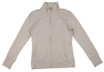 New Womens Puma Thermal Isulated Warm Cell Track Golf Jacket Small Gray Heather 569081 MSRP $75