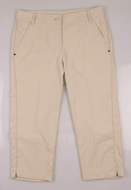 New Womens Puma Golf Solid Tech Capri Size 4 Oatmeal MSRP $70.00