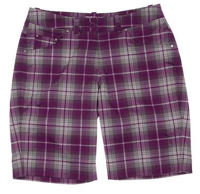 New Womens Nike Dri Fit Stay Cool Plaid Tech Golf Shorts Size 6 Purple MSRP $75