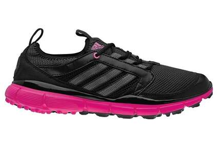 New Womens Golf Shoes Adidas Adistar ClimaCool Medium 9.5 Black Pink