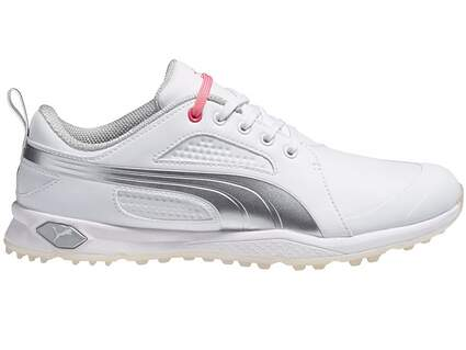 New W/O Box Womens Puma BioFly Spikeless Golf Shoes 7 Medium White/Gray 187877 MSRP 90.00
