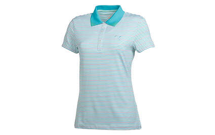 New Womens Puma Textured Roadmap Stripe Golf Polo Small White 566999 MSRP $65
