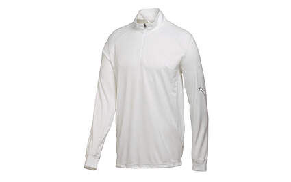 New Mens Puma Breathable Wicking Stretch Golf 1/4 Zip Pullover Medium White MSRP $65