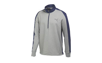 New Mens Puma Warm Cell Tech Thermal Golf 1/4 Zip Pullover Medium Heather Gray 569100 MSRP $75