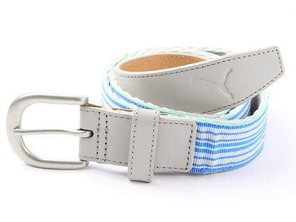 New Womens Puma Ribbon Golf Belt Size Large Grey MSRP $35