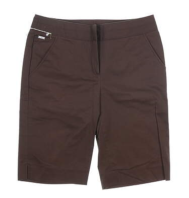 New Womens Cutter & Buck Brown Durable Golf Shorts Size 10 MSRP $67.00