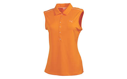 New Womens Puma Autumn Glory Breathable Cool Cell Golf Sleeveless Polo Small MSRP $55