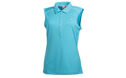 New Womens Puma Scuba Blue Cool Cell Sleeveless Golf Polo Small 565760 MSRP $55