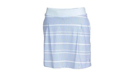 New Womens Puma Golf W Line Print Skort Size Small S White/Omphalodes/Ultramarine MSRP $65.00
