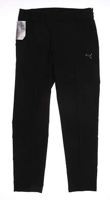 New Womens Puma Black Ultimate Sports Performance Golf Pants Size 36 (Small)