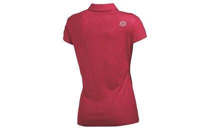 New Womens Puma Golf Petal Polo Small Cerise Heather Dry Cell Breathable MSRP $55
