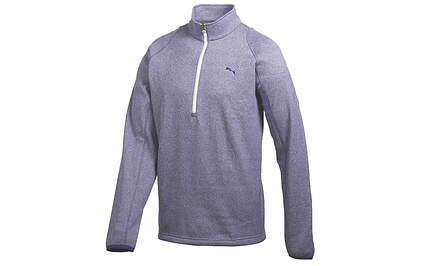 New Mens Puma Navy Heather Dry Cell 1/4 Zip Warm Tech Golf Pullover Medium MSRP $85
