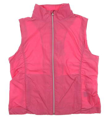 New Womens Ralph Lauren Golf Vest Large Pink Cinch Style Wind Resist MSRP $98