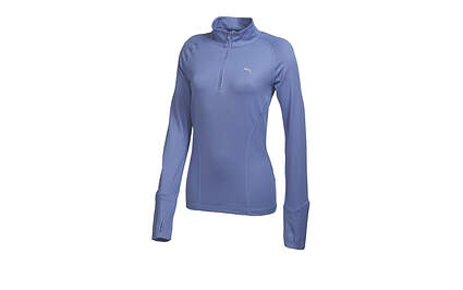 New Womens Puma Golf Dry Cell 1/4 Zip Pullover Small Purple 569077 MSRP $75