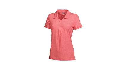 New Womens Puma Dry Cell Golf Polo Small Cayenne Heather V-Neck Soft MSRP $65