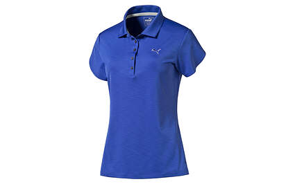New Womens Puma Dry Cell Golf Petal Polo Small Dazzling Blue Wicking Stretch MSRP $65