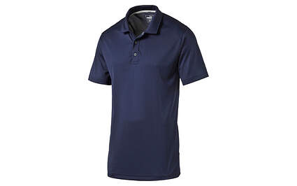 New Mens Puma ESS Pounce Golf Polo Cresting Wicking Medium Breathable Peacoat MSRP $55