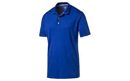 New Mens Puma Pounce Polo Cresting Medium Surf the Web Wicking MSRP $55
