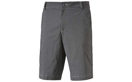 New Mens Puma Golf Shorts Size 32 Black/White Plaid Dry Cell Wicking 570521 MSRP $70