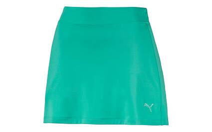 New Womens Puma Golf Skort Small Mint Leaf Solid Knit Wicking 570561 MSRP $55